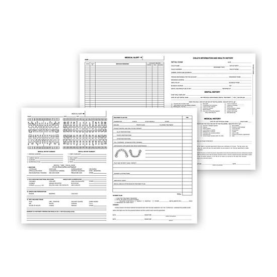 [Image: Pedodontic Dental Exam Record Forms, Histacount Series 200]