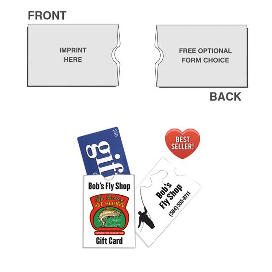 "[Image: Custom Gift Card Holder - Sleeve, Full Color, 2 1/2"" x 3 1/2"", Personalized with Logo, Card Stock Paper]"