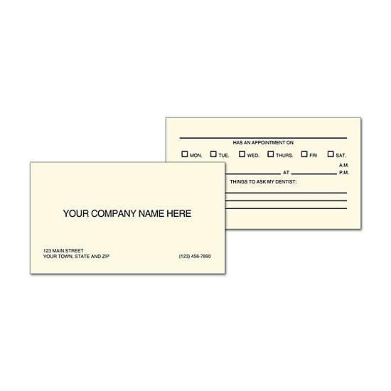 [Image: Appointment Business Card]