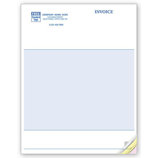 [Image: Multi Purpose Invoice Form, Laser, Classic - Blank No lines]