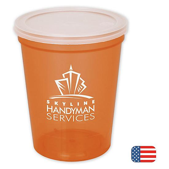 [Image: 16-oz. Stadium Cup w/lid - Personalized]