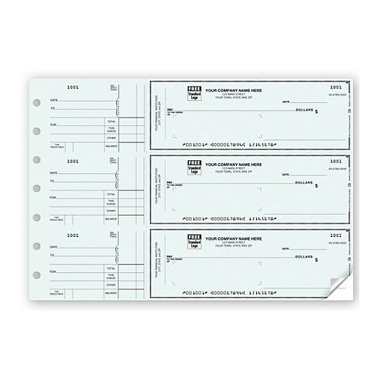 [Image: 3-On-A-Page Window Envelope Check]