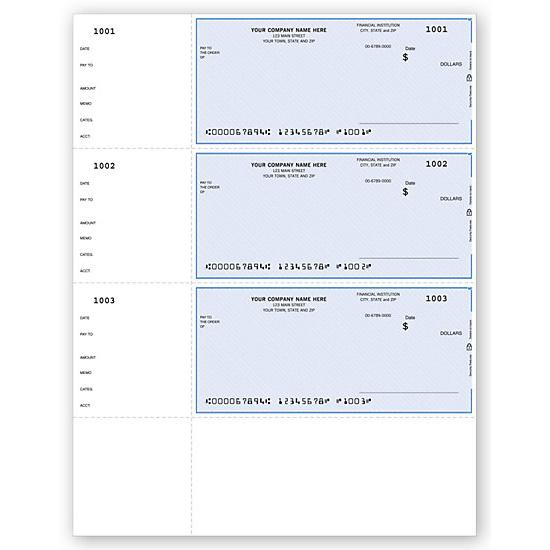 [Image: Quicken Laser Wallet Checks, QuickBooks Compatible, Unlined DLW001]