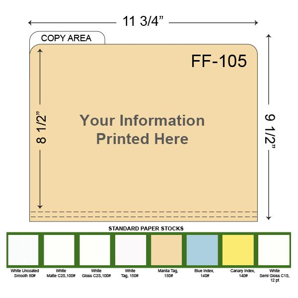 [Image: Custom Printed File Folders with left tab]