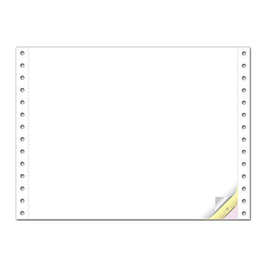 [Image: 9-1/2 x 7 inch Continuous Pinfeed Blank Computer Paper]