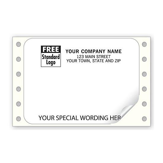 [Image: Shipping Label - White Continuous Mailing Label ]