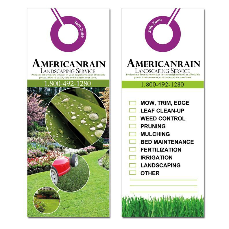 [Image: Lawn Care Door Hangers 2 Sided]