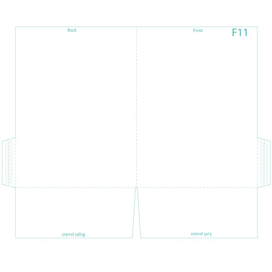 "[Image: Presentation Folder - 9 x 12"" - Two Pockets F1-1]"