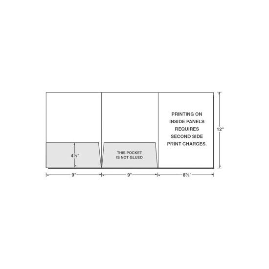 [Image: Tri-Panel Presentation Folder, Left & Center Pockets, Custom Printed]