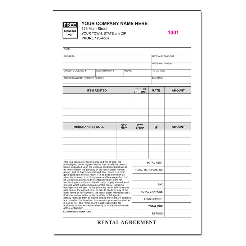 property management invoice forms