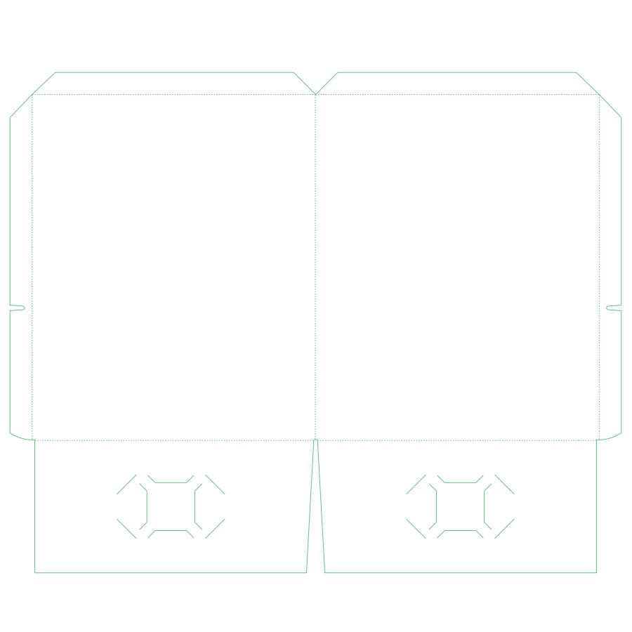 "[Image: Presentation Folders - 9.625"" x 11.75"" - Top and Side Reinforced Edge]"
