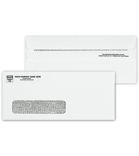 [Image: No. 10 Envelopes, Single Window, Security Tint, Self Seal]
