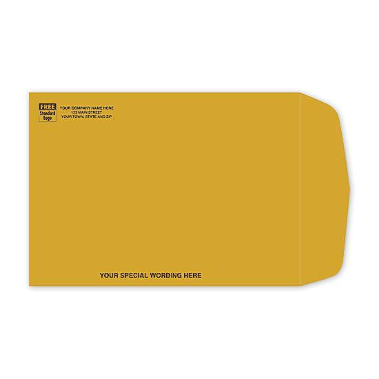 [Image: Brown Kraft Paper Mailing Envelope with Return Address Printed, 7 1/2 x 10 1/2]