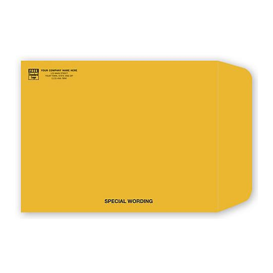 "[Image: Brown Kraft Paper Envelope with Return Address Printed, 10 x 13""]"