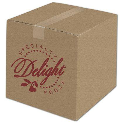 "[Image: Custom Printed Corrugated Boxes, Kraft, 12 x 12 x 12""]"