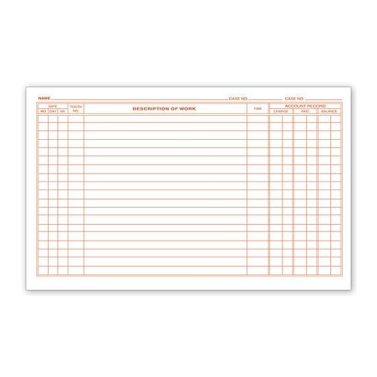 [Image: Dental Continuation Exam Records, 2 Sided, Card Style]