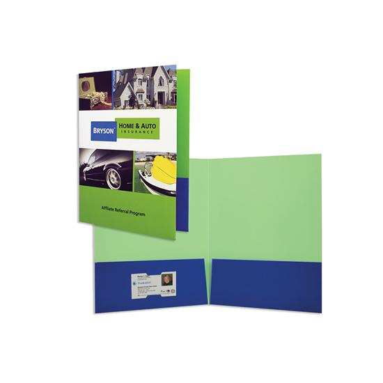 "[Image: 9"" x 12"" Square Corner Folder with Two 4"" Pockets]"