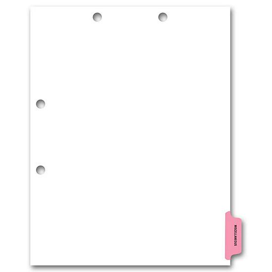 [Image: Side Tab Chart File Divider, Miscellaneous Tab]