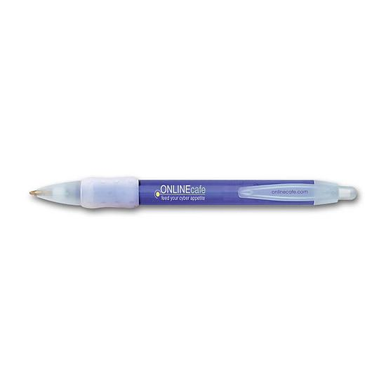 [Image: BIC WideBody Ice Retractable Pen with Rubber Grip - Personalized]