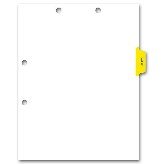 [Image: Side Tab Chart File Divider, Lab-X-Ray Tab]