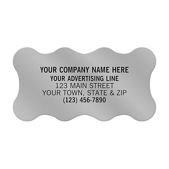"[Image: Scallop Shape Paper Label 2 X 1"" - Custom Printed]"