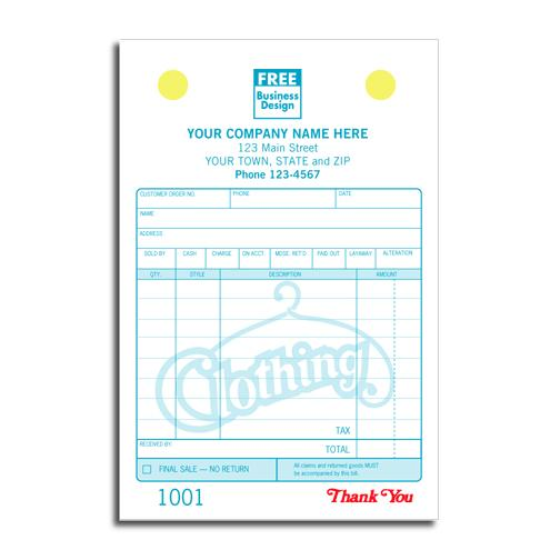 [Image: Clothing Store Invoice Or Receipt]