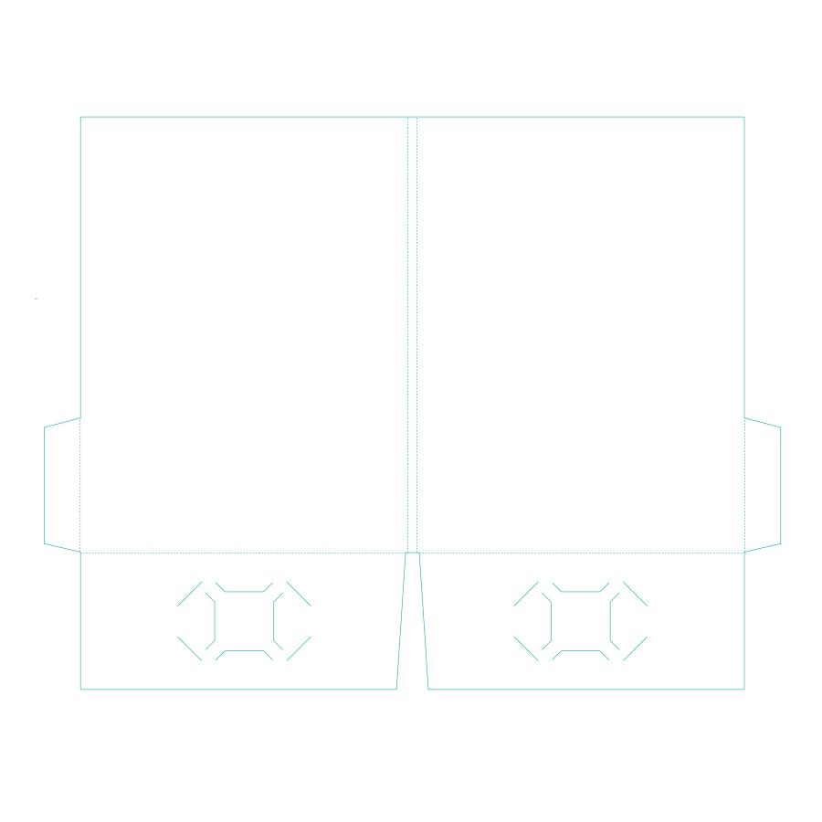 [Image: Presentation Folder - 9 x 12 - Two Pockets F1-3]