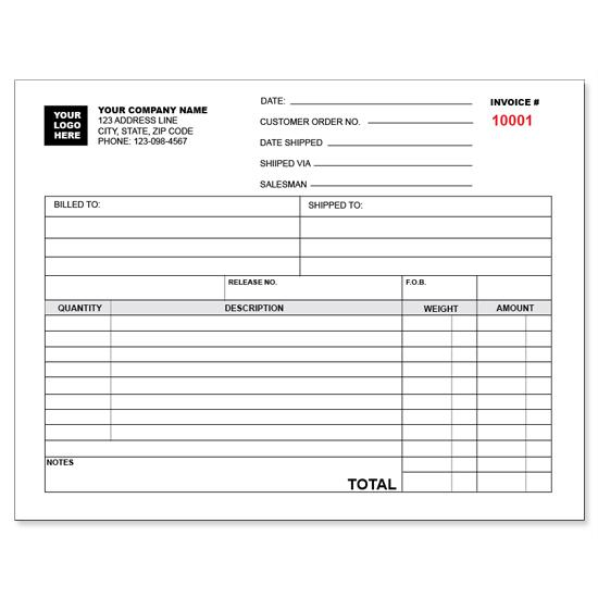 [Image: Trucking Invoice - Custom Carbonless Forms]