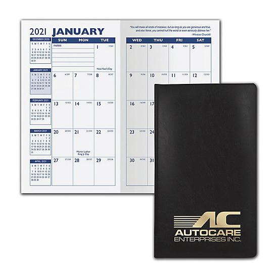 [Image: 2021 Castillion Vinyl Monthly Planner, Printed & Customized]
