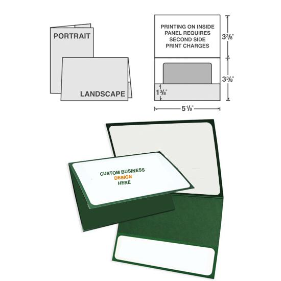 "[Image: Custom Printed Card Holder - Personalized, ID Card, Gift Card, License, Key Card, 5 1/8"" x 3 3/8"", Horizontal, Paper Stock]"