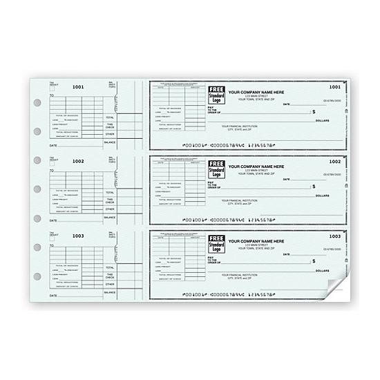 [Image: 3-On-A-Page Check With Corner Voucher]