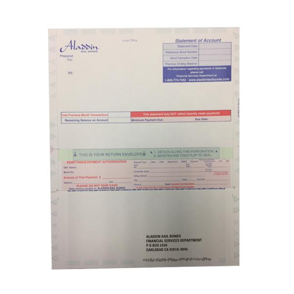 [Image: Custom Printed Pressure Seal Form Statement of Accounts]