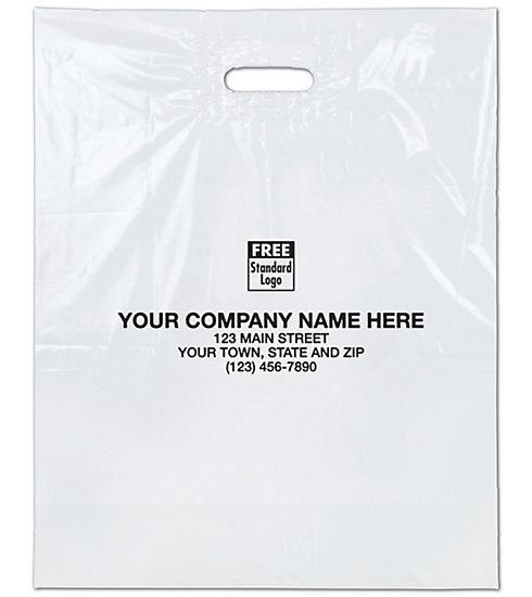 [Image: Medium White Plastic Bags]