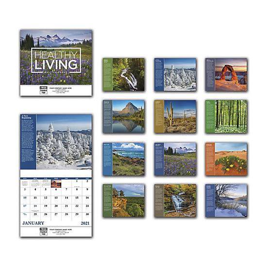 [Image: 2021 Healthy Living Wall Calendar, Personalized & Custom Printed]