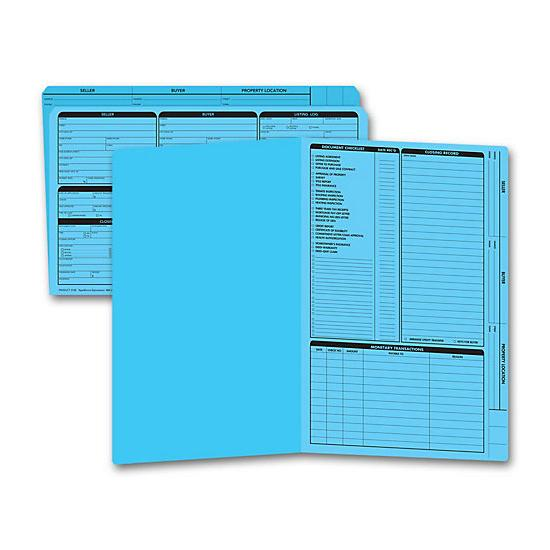 [Image: Real Estate Folder, Right Panel List, Legal Size, Blue]