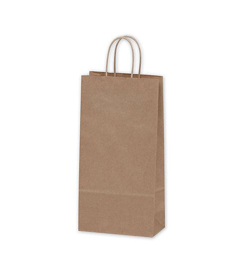 [Image: Kraft Paper Shoppers Double Wine Bags]