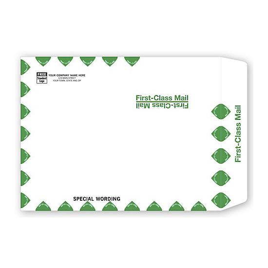 "[Image: White First Class Envelope, 10 x 13""]"