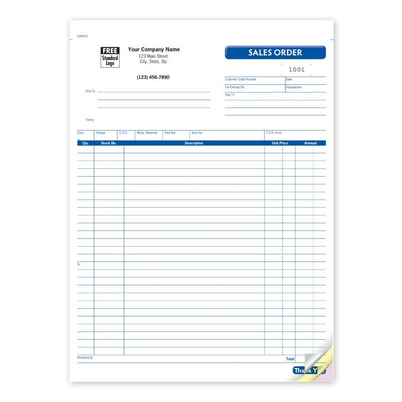 Sales Receipt Books  Custom Invoice  Designsnprint
