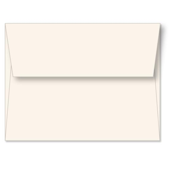 [Image: Natural Linen Announcement Envelope A2 (4 3/8 x 5 3/4) - Custom Printed]
