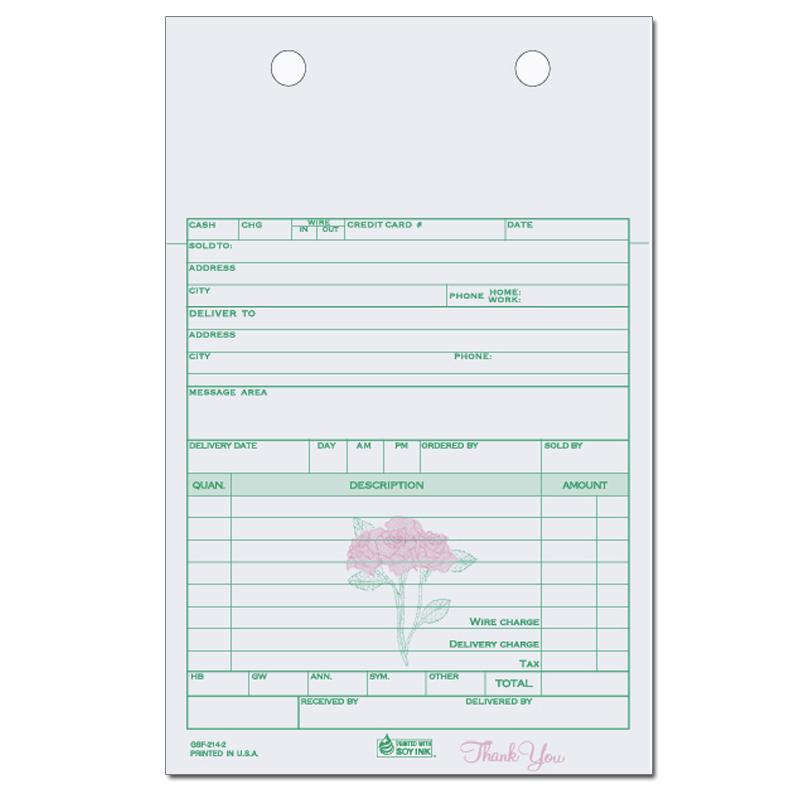 Florists Flower Shop Invoices Receipts DesignsnPrint - Flower shop invoice template