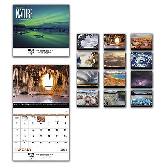 [Image: 2021 Power Of Nature Wall Calendar, Personalized, Custom Printed]