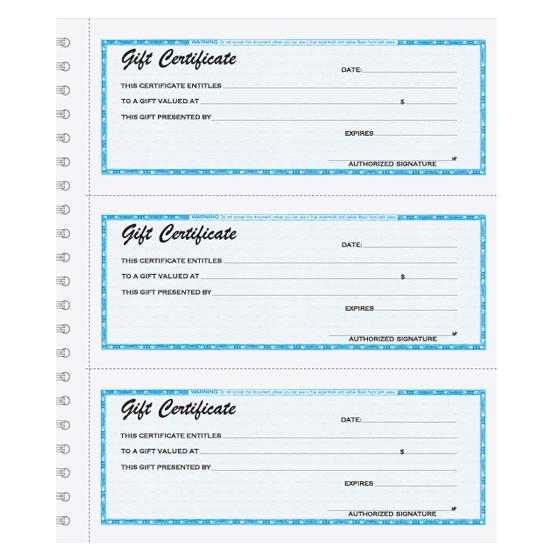 [Image: Custom Gift Certificates with Duplicates]