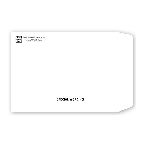 [Image: Tyvek Mailing Envelope with Return Address Printed, 9 x 12]