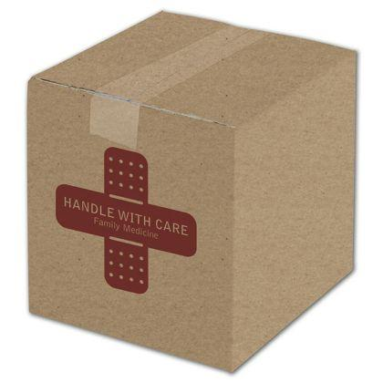"[Image: Custom Printed Corrugated Boxes, Kraft, 8 x 8 x 8""]"