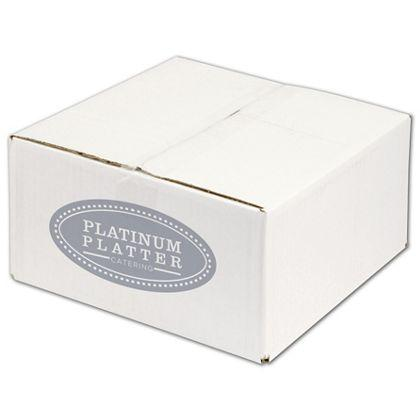 [Image: Custom-Printed Corrugated Boxes, 1 Side, White, Extra Large, 2 Bundles]