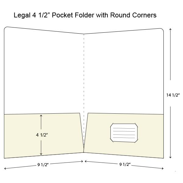 [Image: Legal Size Presentation Folder with Two Pockets]