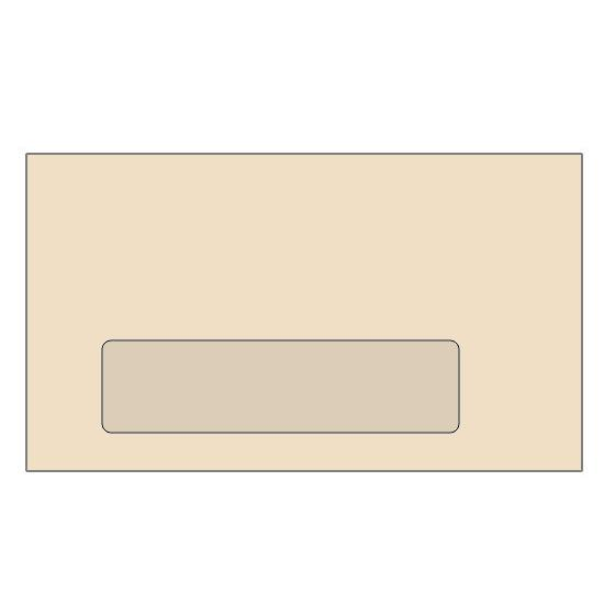 [Image: #7 3/4 Special Window Colored Envelope (3 7/8 x 7 1/2) - Custom Printed]