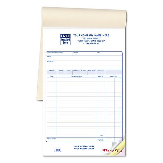 [Image: Retail Sales Book - Custom Sales Receipt Books]