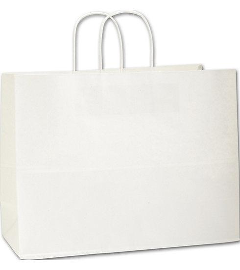 [Image: White Paper Bag With Handle - Large]