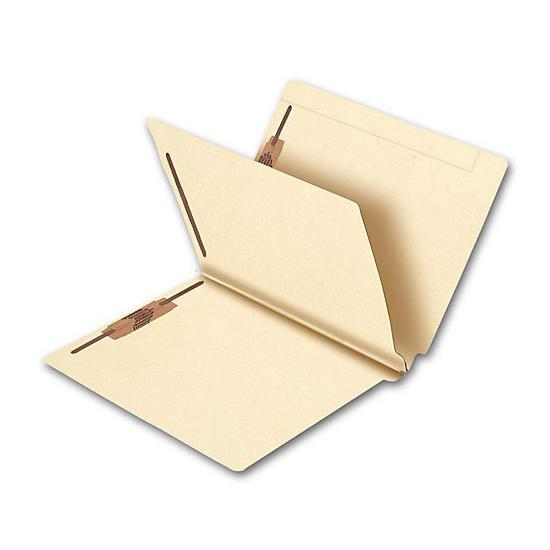 [Image: End Tab Single Divider Manila Folder, 14 Pt, Multi-Fastener]